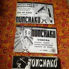 Coleccionismo deportivo: NUNCHAKU EN 3 TOMOS DAIMYO (DEFENSA Y ATAQUE- TÉCNICAS SUPERIORES Nº1 Y 2), 1979-81.. Lote 165537290