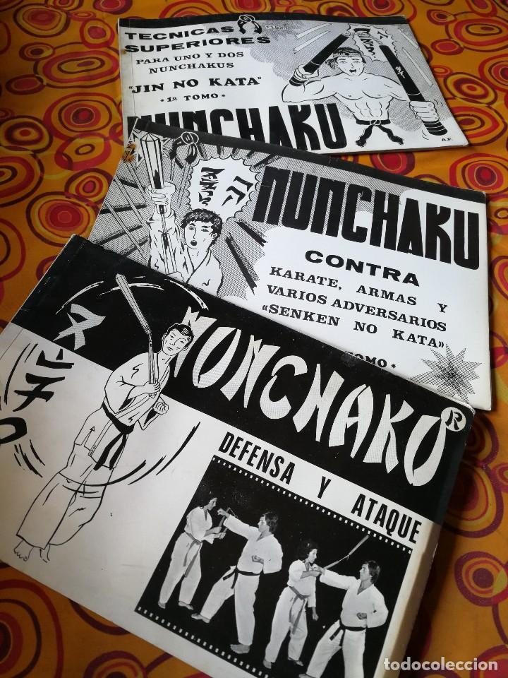 Coleccionismo deportivo: NUNCHAKU EN 3 TOMOS DAIMYO (DEFENSA Y ATAQUE- TÉCNICAS SUPERIORES Nº1 Y 2), 1979-81. - Foto 2 - 165537290