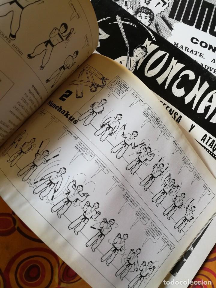 Coleccionismo deportivo: NUNCHAKU EN 3 TOMOS DAIMYO (DEFENSA Y ATAQUE- TÉCNICAS SUPERIORES Nº1 Y 2), 1979-81. - Foto 4 - 165537290