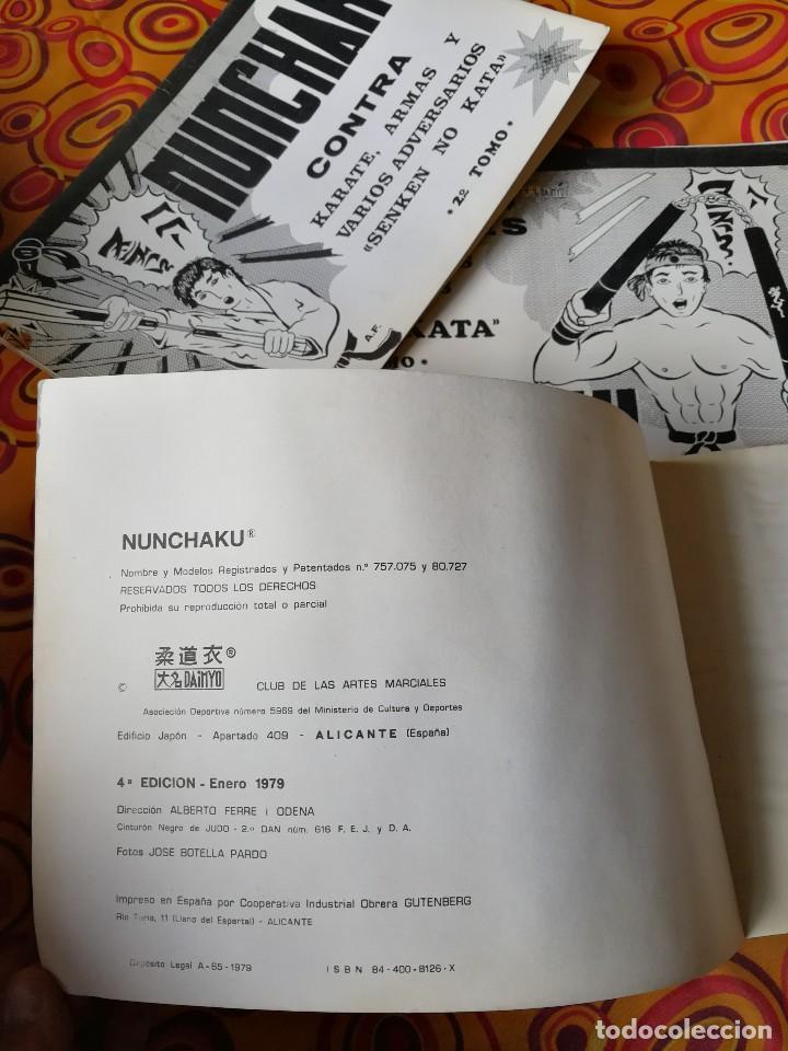 Coleccionismo deportivo: NUNCHAKU EN 3 TOMOS DAIMYO (DEFENSA Y ATAQUE- TÉCNICAS SUPERIORES Nº1 Y 2), 1979-81. - Foto 12 - 165537290