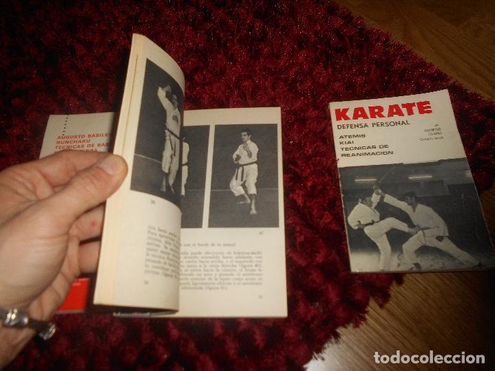 Coleccionismo deportivo: NUNCHAKU TÉCNICAS DE BASE Y DE DEFENSA EDITORIAL FHER 1977 EL KARATE C. MUÑOZ DEFENSA PERSONAL - Foto 4 - 165948070