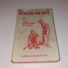 Coleccionismo deportivo: BOY SCOUTS. LIBRO SCOUTING FOR BOYS, EDICIÓN 30 (1957). LORD BADEN-POWELL POR ARTHUR PEARSON. Lote 166099426
