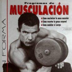 Coleccionismo deportivo: PROGRAMAS DE MUSCULACIÓN / NICK EVANS, M. D. MADRID : TUTOR, 2008.. Lote 166184098