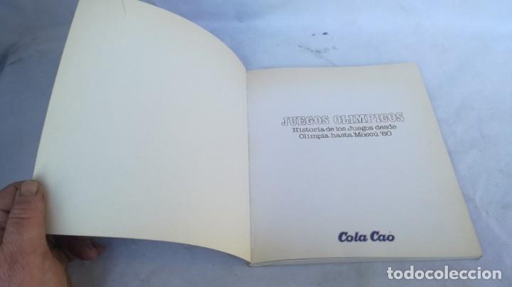 Coleccionismo deportivo: JUEGOS OLIMPICOS HISTORIA/ DE OLIMPIA A MOSCU 80/ COLA CAO/ / E204 - Foto 3 - 166232290