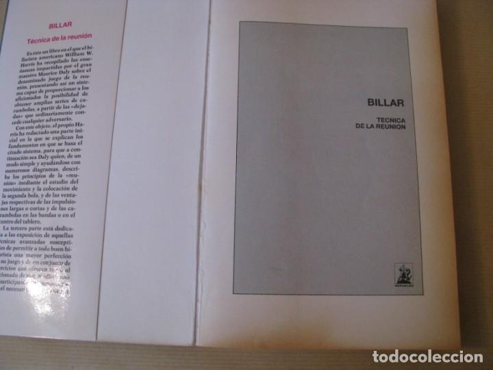 Coleccionismo deportivo: BILLAR TÉCNICA DE LA REUNIÓN. MAURICE DALY Y WILLIAM W. HARRIS. 4 EDICION. 1989. - Foto 2 - 166319826