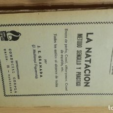Coleccionismo deportivo: LA NATACION METODO SENCILLO Y PRACTICO/ MANUALES CISNE/ J E GRANADA/ / H303. Lote 166484062