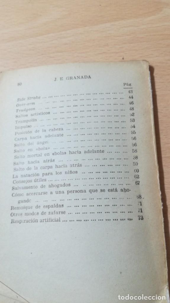 Coleccionismo deportivo: LA NATACION METODO SENCILLO Y PRACTICO/ MANUALES CISNE/ J E GRANADA/ / H303 - Foto 5 - 166484062