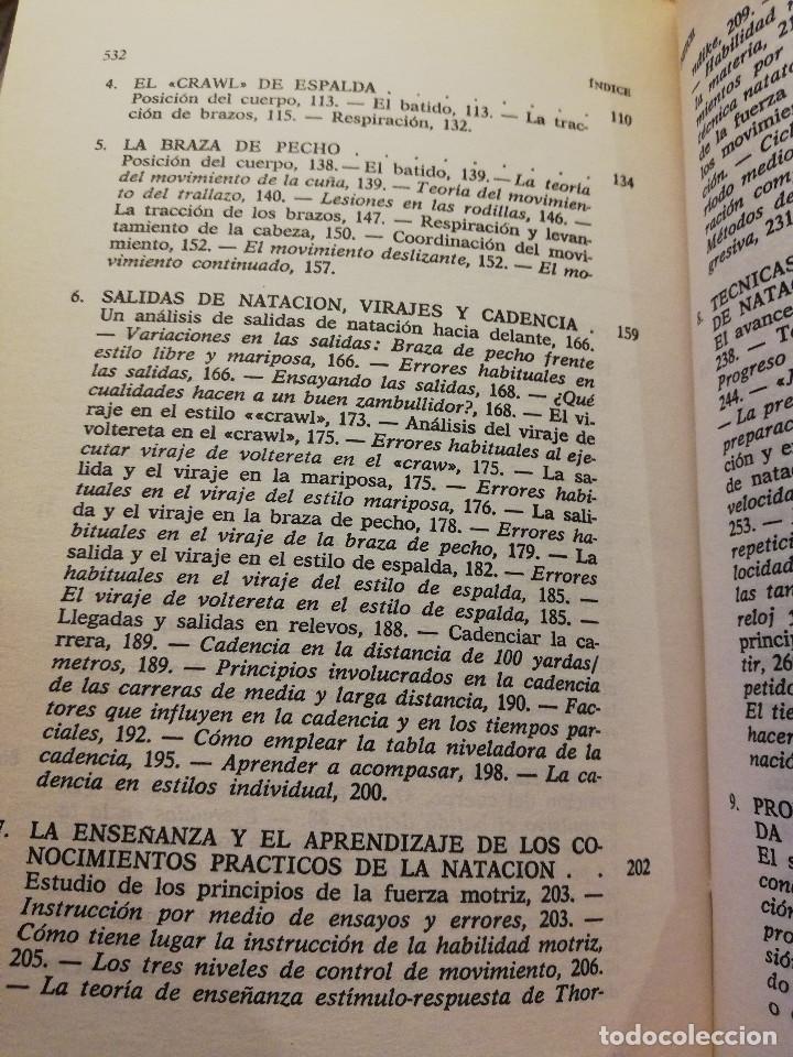 Coleccionismo deportivo: LA NATACIÓN: CIENCIA Y TÉCNICA (JAMES A. COUNSILMAN) EDITORIAL HISPANO EUROPEA - Foto 4 - 169026580