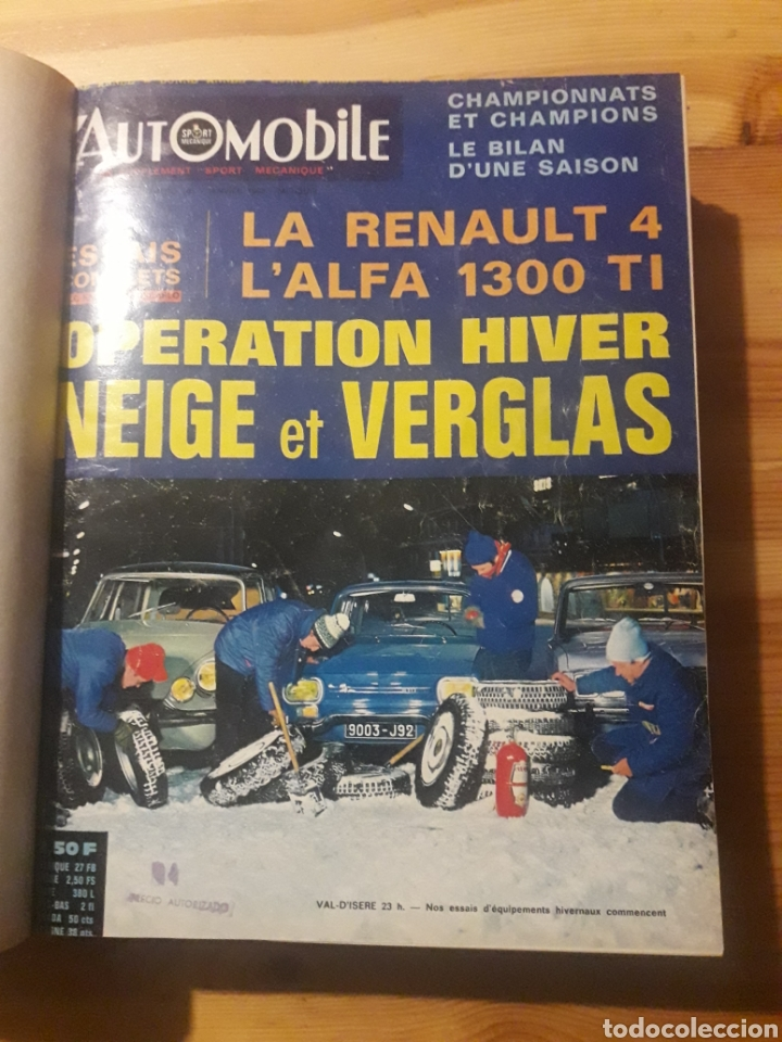 L'AUTOMOBILE GRAN TOMO REVISTAS AUTOMOCION COCHES (Coleccionismo Deportivo - Libros de Deportes - Otros)