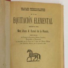 Coleccionismo deportivo: AÑO 1895 - JUAN ZUMEL DE LA FUENTE - TRATADO TEÓRICO-PRÁCTICO DE EQUITACIÓN ELEMENTAL - CABALLOS. Lote 172341809