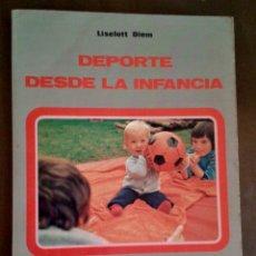 Coleccionismo deportivo: DEPORTE DESDE LA INFANCIA. EDITORIAL MINON. Lote 172754045