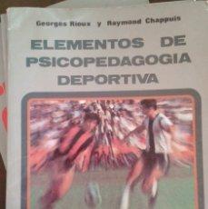 Coleccionismo deportivo: ELEMENTOS DE PSICOPEDAGOGÍA DEPORTIVA. ED MINON. Lote 172754175