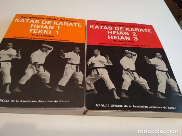 G-JCA52C IMPRESIONANTE LOTE DE 4 LIBROS DE 2 KARATE LA DINAMICA DE NAKAYAMA Y 2 DE KATAS DE KARATE (Coleccionismo Deportivo - Libros de Deportes - Otros)