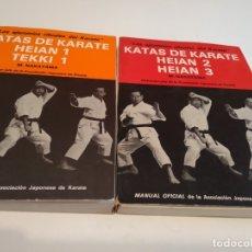 Coleccionismo deportivo: G-JCA52C IMPRESIONANTE LOTE DE 4 LIBROS DE 2 KARATE LA DINAMICA DE NAKAYAMA Y 2 DE KATAS DE KARATE. Lote 173526729