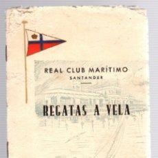 Coleccionismo deportivo: PROGRAMA REGATAS A VELA. REAL CLUB MARITIMO DE SANTANDER. AÑO 1956. Lote 173570217