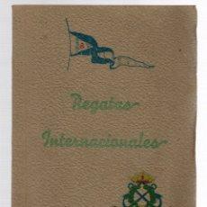 Coleccionismo deportivo: PROGRAMA REGATAS INTERNACIONALES EN LA RIA DE MARIN. PONTEVEDRA. AÑO 1945. Lote 173570610