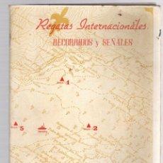 Coleccionismo deportivo: RECORRIDOS Y SEÑALES REGATAS INTERNACIONALES MARIN. PONTEVEDRA. AÑO 1945. Lote 173572725