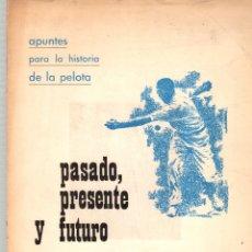 Coleccionismo deportivo: PASADO, PRESENTE Y FUTURO. APUNTES PARA LA HISTORIA DE LA PELOTA. J.R. DE BASTERRA. Lote 174077995