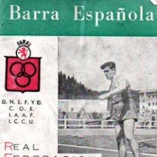 Coleccionismo deportivo: BARRA ESPAÑOLA HISTORIAL Y REGLAMENTO (1959). Lote 174318833