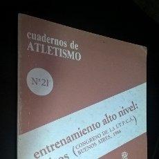 Coleccionismo deportivo: CUADERNOS DE ATLETISMO 21. ENTRENAMIENTO ALTO NIVEL: SALTOS. REAL FEDERACIÓN ESPAÑOLA DE ATLETISMO. . Lote 176631933