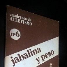 Coleccionismo deportivo: CUADERNOS DE ATLETISMO 26. JABALINA Y PESO. REAL FEDERACIÓN ESPAÑOLA DE ATLETISMO. . Lote 176636532