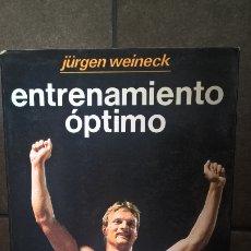 Coleccionismo deportivo: ENTRENAMIENTO OPTIMO. JURGEN WEINECK. COMO LOGRAR EL MAXIMO RENDIMIENTO. HISPANO EUROPEA 1988. . Lote 176667225