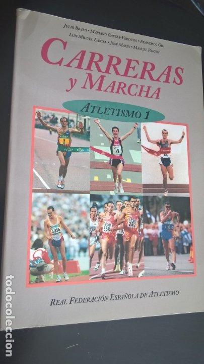 Coleccionismo deportivo: ATLETISMO: VOL I (CARRERAS Y MARCHA) - VOL 2 (VERTICALES) -VOL 3 (LANZAMIENTOS). JULIO BRAVO. - Foto 4 - 176728103