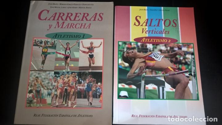 ATLETISMO: VOL I (CARRERAS Y MARCHA) - VOL 2 (VERTICALES) -VOL 3 (LANZAMIENTOS). JULIO BRAVO. (Coleccionismo Deportivo - Libros de Deportes - Otros)