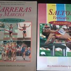 Coleccionismo deportivo: ATLETISMO: VOL I (CARRERAS Y MARCHA) - VOL 2 (VERTICALES) -VOL 3 (LANZAMIENTOS). JULIO BRAVO.. Lote 176728103