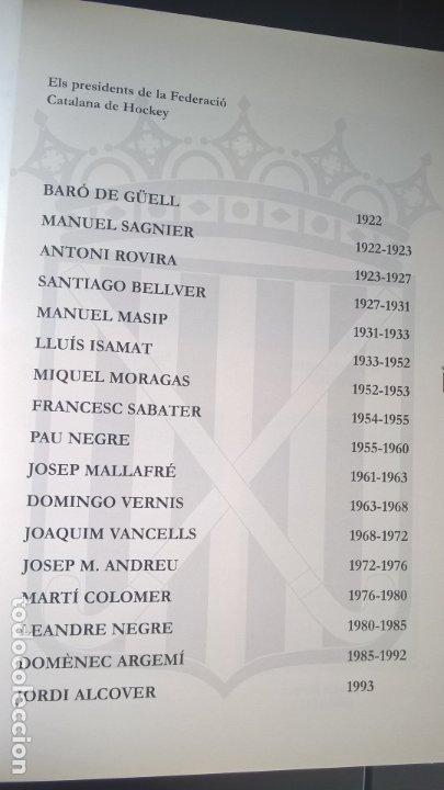 Coleccionismo deportivo: EL HOCKEY A CATALUNYA. FEDERACION CATALANA DE HOCKEY. EN CATALAN (CATALA). - Foto 8 - 176809037