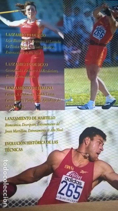 Coleccionismo deportivo: ATLETISMO: VOL I (CARRERAS Y MARCHA) - VOL 2 (VERTICALES) -VOL 3 (LANZAMIENTOS). JULIO BRAVO. - Foto 7 - 176728103