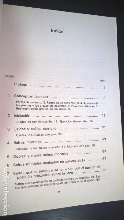 Coleccionismo deportivo: LOTE DE 2 LIBROS DE JOSE GINES SIU. CAMA ELASTICA Y INICIACION AL MINITRAMP. ILUSTRADO. - Foto 3 - 176836017