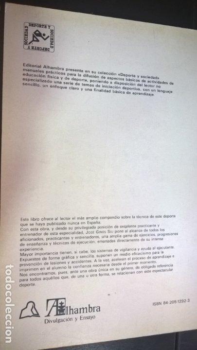 Coleccionismo deportivo: LOTE DE 2 LIBROS DE JOSE GINES SIU. CAMA ELASTICA Y INICIACION AL MINITRAMP. ILUSTRADO. - Foto 7 - 176836017