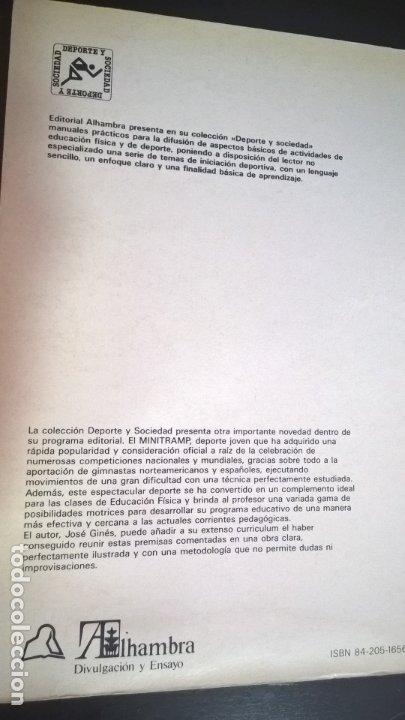 Coleccionismo deportivo: LOTE DE 2 LIBROS DE JOSE GINES SIU. CAMA ELASTICA Y INICIACION AL MINITRAMP. ILUSTRADO. - Foto 8 - 176836017
