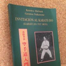 Coleccionismo deportivo: INVITACION AL KARATE-DO - K. MABUNI / G. NAKASONE - MIRAGUANO EDICIONES - ILUSTRADO - BUEN ESTADO. Lote 177771804