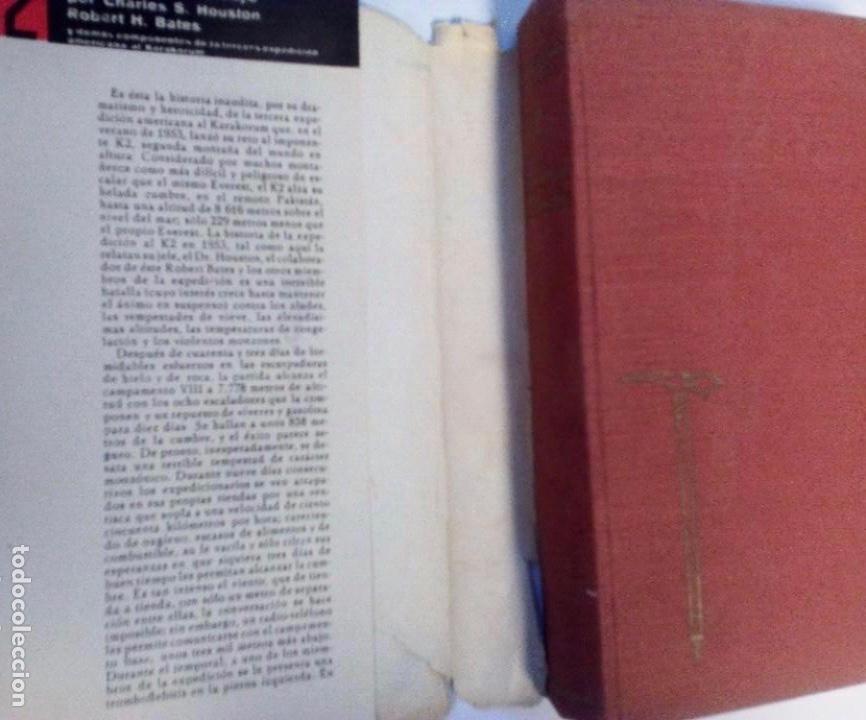 Coleccionismo deportivo: K2 LA MONTAÑA SALVAJE CHARLES S. HOUSTON ROBERT H. BATES PLANETA 1ª ED. 1956 - Foto 2 - 177847737