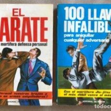 Coleccionismo deportivo: EL KARATE Y 100 LLAVES INFALIBLES. CÉSAR BARIOLI. 2 LIBROS EDITORIAL DE VECCHI 1971.. Lote 177847958