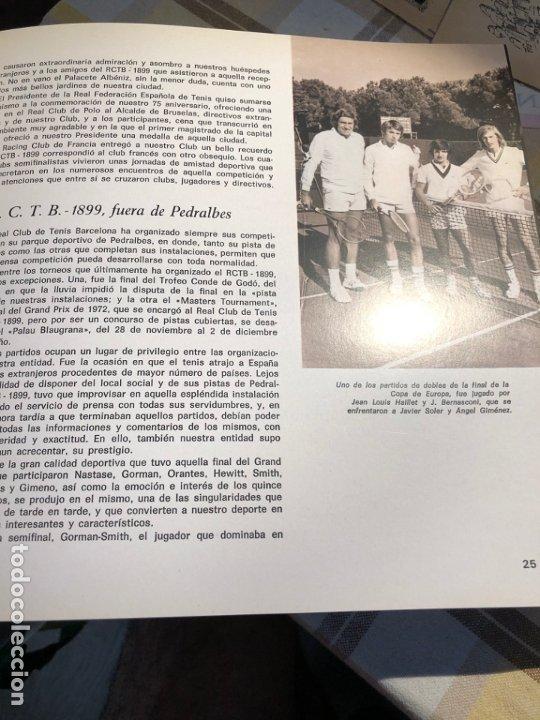 Coleccionismo deportivo: REAL CLUB DE TENIS BARCELONA 1899 75 ANIVERSARIO - Foto 3 - 177859845