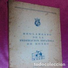 Coleccionismo deportivo: BOXEO REGLAMENTO DE LA FEDERACION ESPAÑOLA DE BOXEO AÑO 1967. Lote 180197966