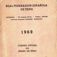 Coleccionismo deportivo: ANUARIO REAL FEDERACION ESPAÑOLA DE TENIS - 1969. Lote 180448241