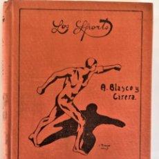 Coleccionismo deportivo: ANTIGUO LIBRO AÑOS 20,ATLETISMO,ILUSTRADO,TECNICAS,ENTRENAMIENTO,GIMNASIA,LOS SPORTS EDICIONES. Lote 181210175