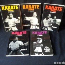 Coleccionismo deportivo: M.NAKAYAMA - KARATE SUPERIOR (5 PRIMEROS TOMOS) - EDITORIAL FHER 1979. Lote 181946670