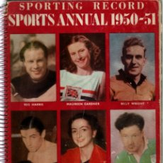 Coleccionismo deportivo: SPORTING RECORD SPORTS ANNUAL 1950-51. Lote 182180002