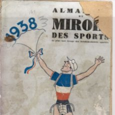 Coleccionismo deportivo: ALMANACH DU MIROIR DES SPORTS 1938. Lote 182181056