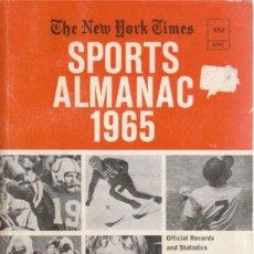 Coleccionismo deportivo: THE NEW YORK TIMES SPORTS ALMANAC 1965. Lote 182181708