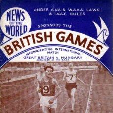 Coleccionismo deportivo: BRITISH GAMES 1955. Lote 182181757
