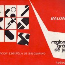 Coleccionismo deportivo: REGLAMENTO GRÁFICO DE BALONMANO. Lote 182182567