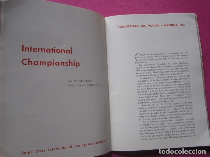 Coleccionismo deportivo: CAMPEONATO DEL MUNDO DE REGATAS REAL CLUB MARITIMO DE SANTANDER 1955 - Foto 7 - 183037330