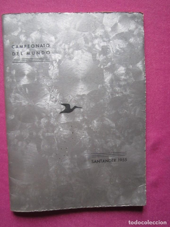 Coleccionismo deportivo: CAMPEONATO DEL MUNDO DE REGATAS REAL CLUB MARITIMO DE SANTANDER 1955 - Foto 2 - 183037330