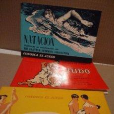 Coleccionismo deportivo: 3 LIBROS COLECCION CONOZCA EL JUEGO : NATACION + JUDO + GIMNASIA ( EDITADOS EN 1964 - 66 ) . Lote 183514046